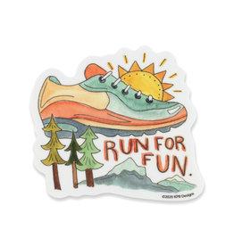 KPB Designs Run For Fun Sticker