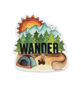KPB Designs Wander Camping Sticker