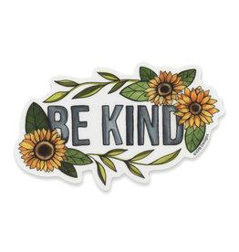 KPB Designs Be Kind Sunflower Sticker