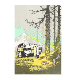Old School Stationers Airstream By The Trees Letterpress Card