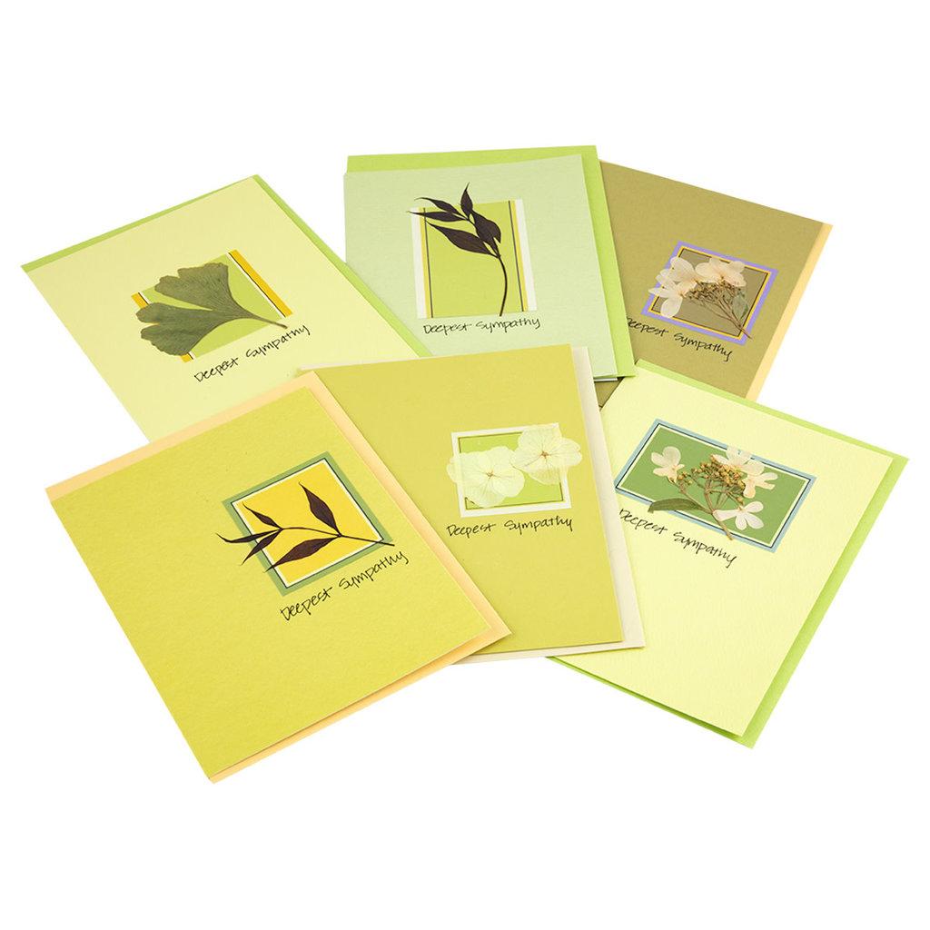 Singing Leaf Sympathy Original Leaf Card