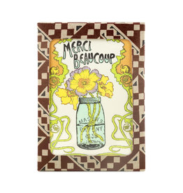 Old School Stationers Merci Beaucoup Box of 10