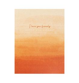 Maija Rebecca Hand Drawn I Love You Fiercely Anniversary Greeting Card