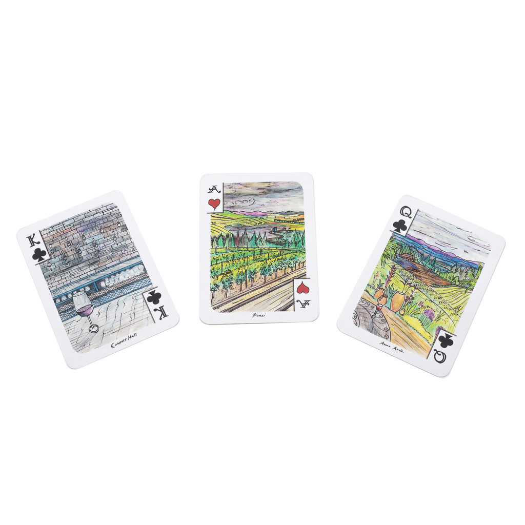 Illustrated Playing Cards Oregon Wineries Playing Card Deck
