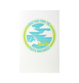 Pike Street Press Greetings From The Pacific Northwest Letterpress Card