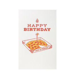 Pike Street Press Pizza Birthday Letterpress Card