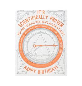Color Box Design & Letterpress Scientific Birthday Letterpress Card