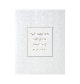 Color Box Design & Letterpress Hug Sympathy Letterpress Card