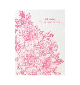 Color Box Design & Letterpress Best Wishes Letterpress Card