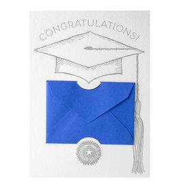Color Box Design & Letterpress Graduation Letterpress Gift Card Holder