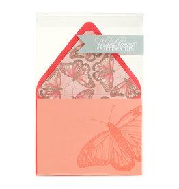 Color Box Design & Letterpress Butterfly Letterpress Folded Notes Set of 6