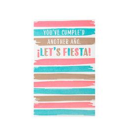 Anemone Letterpress Fiesta Birthday Letterpress Card