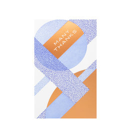 Anemone Letterpress Geometric Many Thanks Letterpress Card