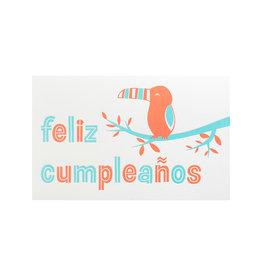 Anemone Letterpress Toucan Birthday Letterpress Card
