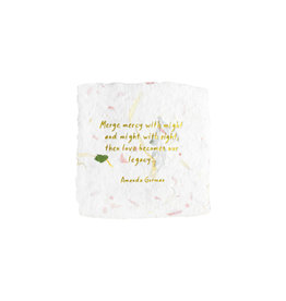 Oblation Papers & Press Amanda Gorman Quote Floral Petite Wishes
