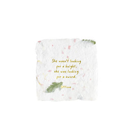 Oblation Papers & Press Atticus Quote Floral Petite Wishes