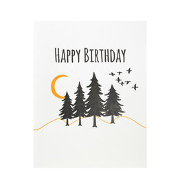 Lucky Bee Press Happy Birthday Great Outdoors Letterpress Card