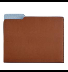 Graphic Image Carlo File Folder - Tan Leather