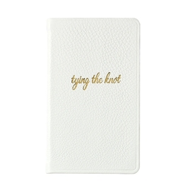 Graphic Image Tying the Knot Journal - White Leather