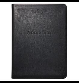 Graphic Image Bound Address Book - Black Leather