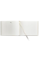 Graphic Image White Leather Guest Book
