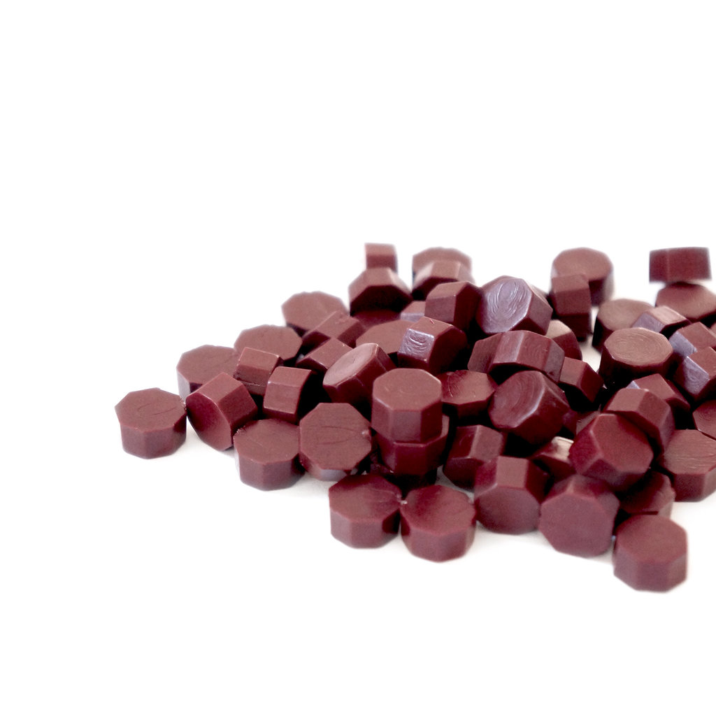 Mister Robinson Sealing Wax Beads Deep Raspberry - 100 Beads