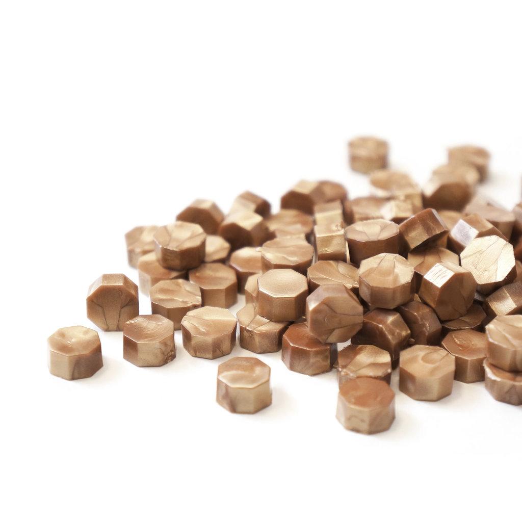Mister Robinson Sealing Wax Beads Tan Gold - 100 Beads