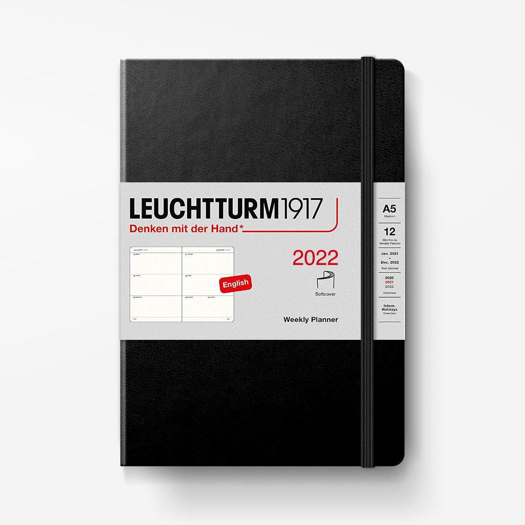 Leuchtturm Leuchtturm 2022 Weekly Planner A5 Softcover - Black