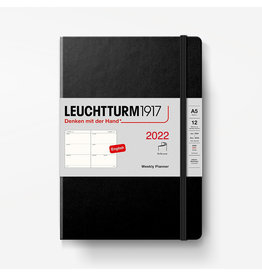 Leuchtturm 2022 Weekly Planner A5 Softcover - Black