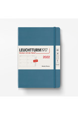 Leuchtturm Leuchtturm 2022 Weekly Planner A5 Hardcover - Stone Blue