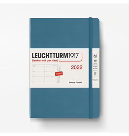 Leuchtturm 2022 Weekly Planner A5 Hardcover - Stone Blue