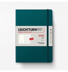 Leuchtturm 2022 Weekly Planner + Notebook A5 Softcover - Pacific Green