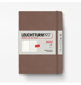 Leuchtturm 2022 Weekly Planner + Notebook A5 Softcover - Warm Earth