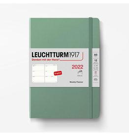 Leuchtturm Leuchtturm 2022 Weekly Planner A5 Softcover - Sage