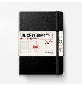 Leuchtturm Leuchtturm 2022 Daily Planner A5 Hardcover - Black