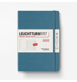 Leuchtturm 2022 Weekly Planner + Notebook A5 Hardcover - Stone Blue