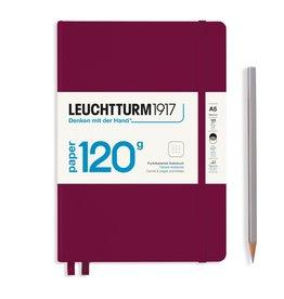 Leuchtturm Leuchtturm A5 Port Red 120g Edition Hardcover Notebook Dot
