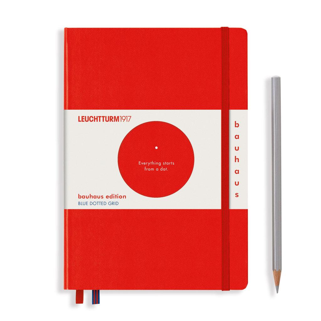 Leuchtturm Leuchtturm A5 Red Bauhaus Special Edition Notebook Dot