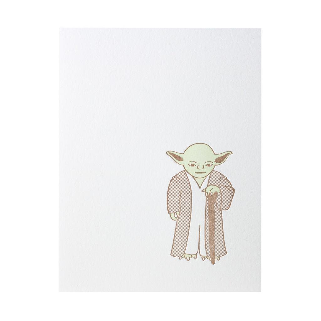 Green Bird Press Star Wars Yoda Letterpress Card
