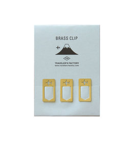 Traveler's Company Traveler's Factory Airplane Brass Clip Set of 3