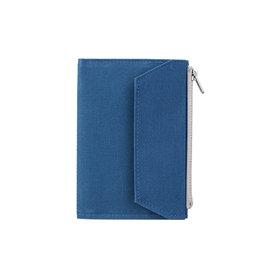 Traveler's Company Traveler's Factory Blue Paper Cloth Zipper Pouch Passport