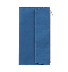 Traveler's Company Traveler's Factory Blue Paper Cloth Zipper Pouch