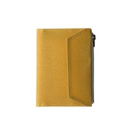 Traveler's Company Traveler's Factory Mustard Paper Cloth Zipper Pouch Passport