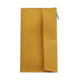 Traveler's Company Traveler's Factory Mustard Paper Cloth Zipper Pouch