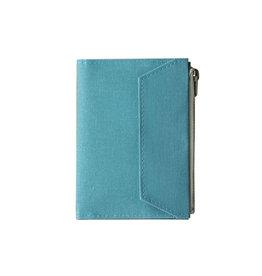 Traveler's Company Traveler's Factory Sky Blue Paper Cloth Zipper Pouch Passport