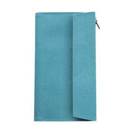 Traveler's Company Traveler's Factory Sky Blue Paper Cloth Zipper Pouch