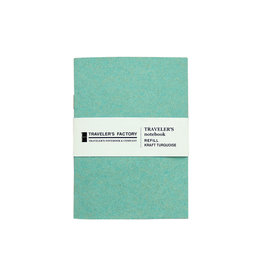 Traveler's Company Traveler's Factory Refill Turquoise Kraft Paper Passport