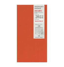 Traveler's Company Traveler's Notebook 2022 Refill Monthly