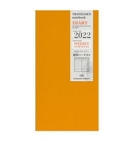 Traveler's Company [preorder] Traveler's Notebook 2022 Refill Weekly Vertical