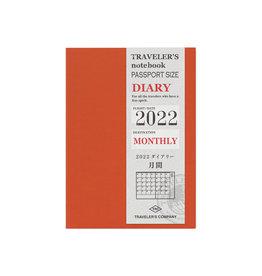 Traveler's Company [preorder] Traveler's Notebook 2022 Refill Monthly Passport